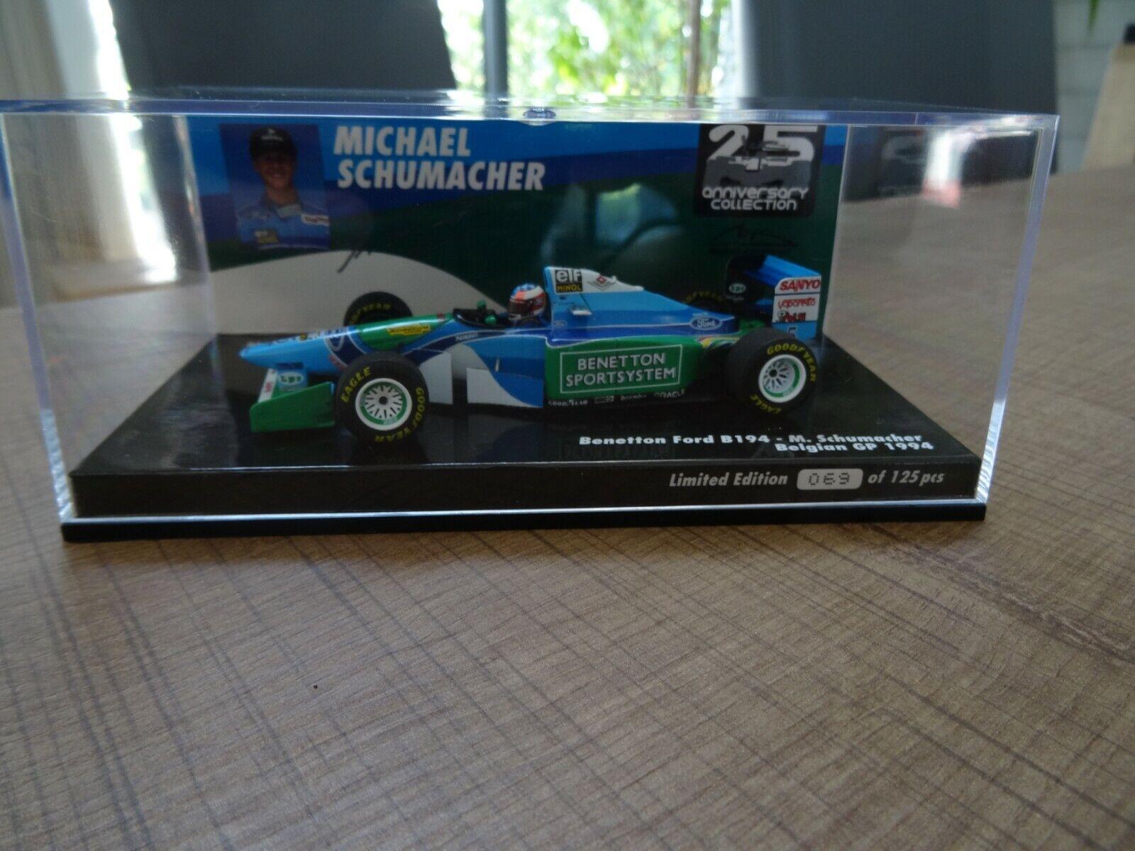 MINICHAMPS 1 43 M. SCHUMACHER BENETTON B194 BELGIAN GP 1994  N° 69 125 PCS