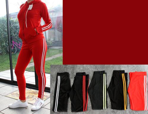 Damen Trainingsanzug 2 Teilig Hose+Jacke Sportjacke Sportanzug Streifen 1520 NEU