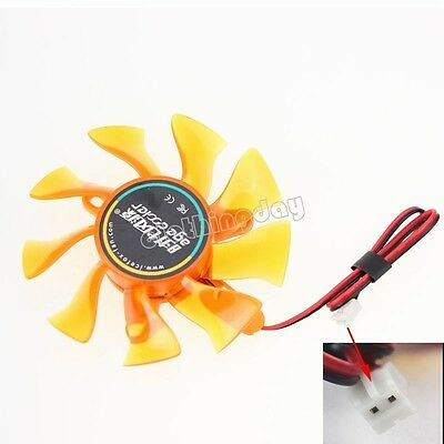 12V 2Pin 75mm Heatsink H-08 VGA Fan VGA Cooler VGA Cooling Fan