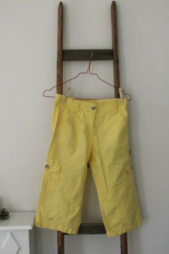 Mädchen Sommer Cargo Capri Hose Gr 146//152 gelb