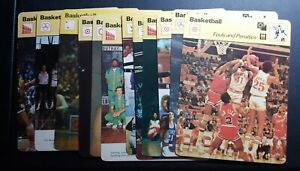 1977-79-SPORTSCASTER-NBA-COLLEGE-USA-BASKETBALL-4-75X6-25-LOT-OF-13-CARDS