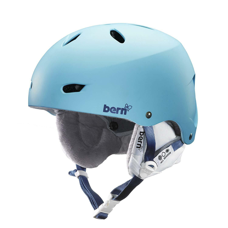 Bern Women's Brighton EPS blueeebird Satin Snow Helmet White Liner XS S 52-55.5cm