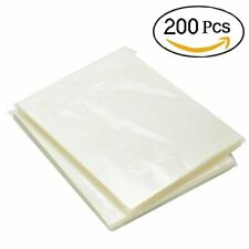 200 Pack Thermal Laminating Pouches 3 Mil Heat Seal A4 Letter Size 9x115 Sheets