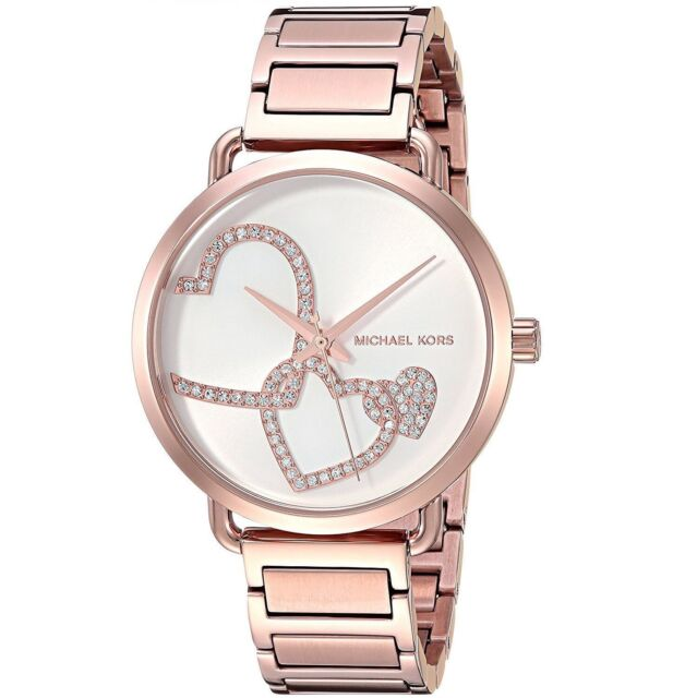 Michael Kors MK3825 Portia Rose Gold tone Stainless Steel Bracelet Watch 37mm