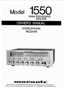 marantz 1550 receiver owners instruction manual ebay rh ebay com marantz nr1508 user manual marantz user manual sr 7007