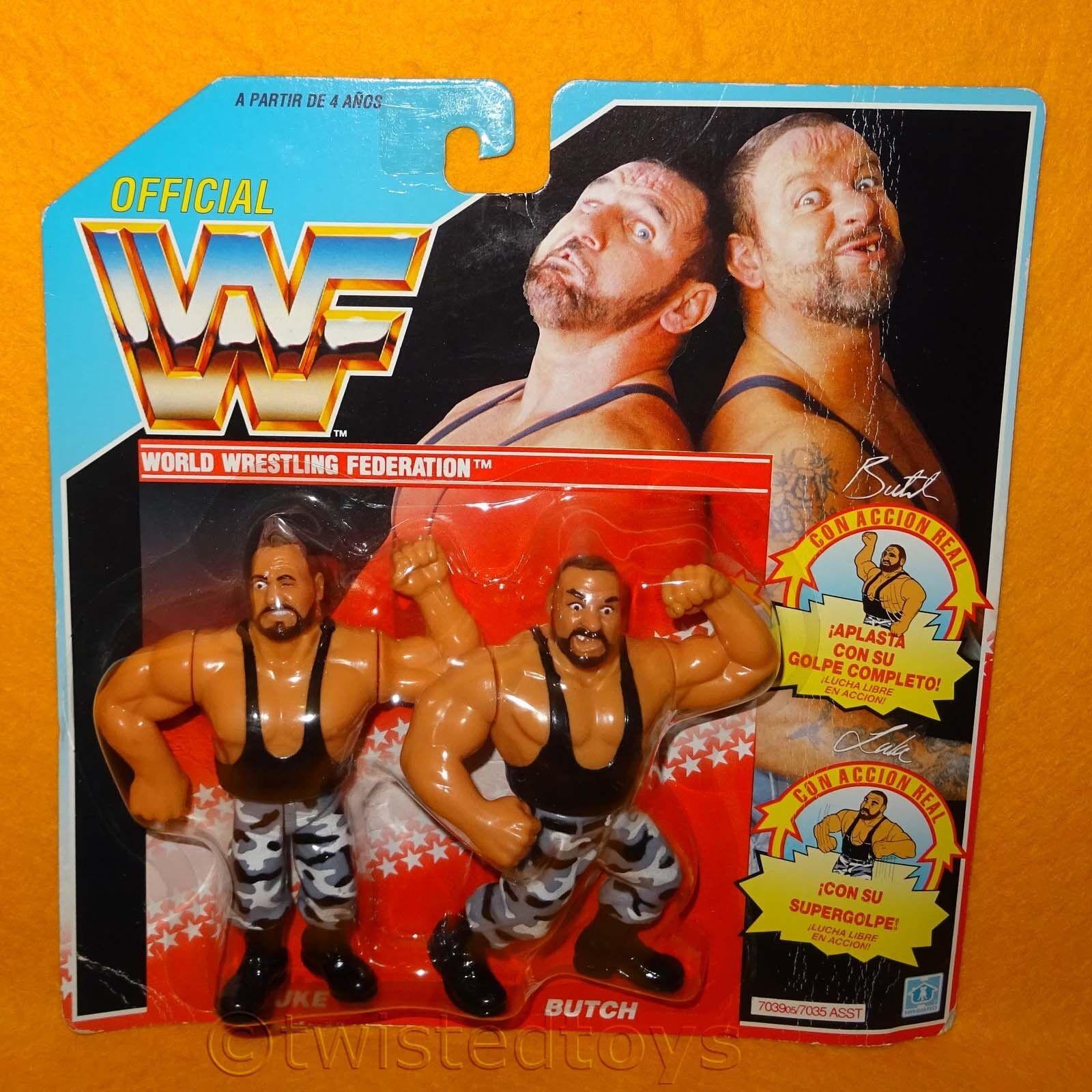 VINTAGE 1991 wwf wrestling Tag Team gli sconfitti LUKE & Butch Figure MOC