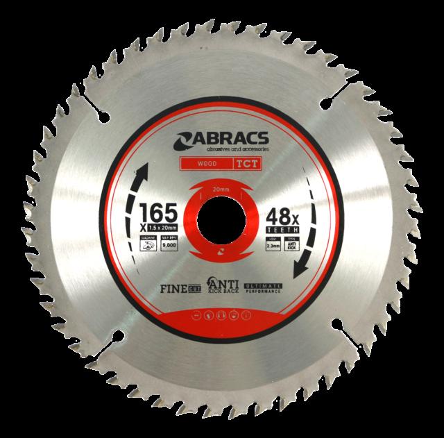 Saxton 165mm Pack A TCT Cordless Circular Saw Blades for Dewalt Makita Bosch