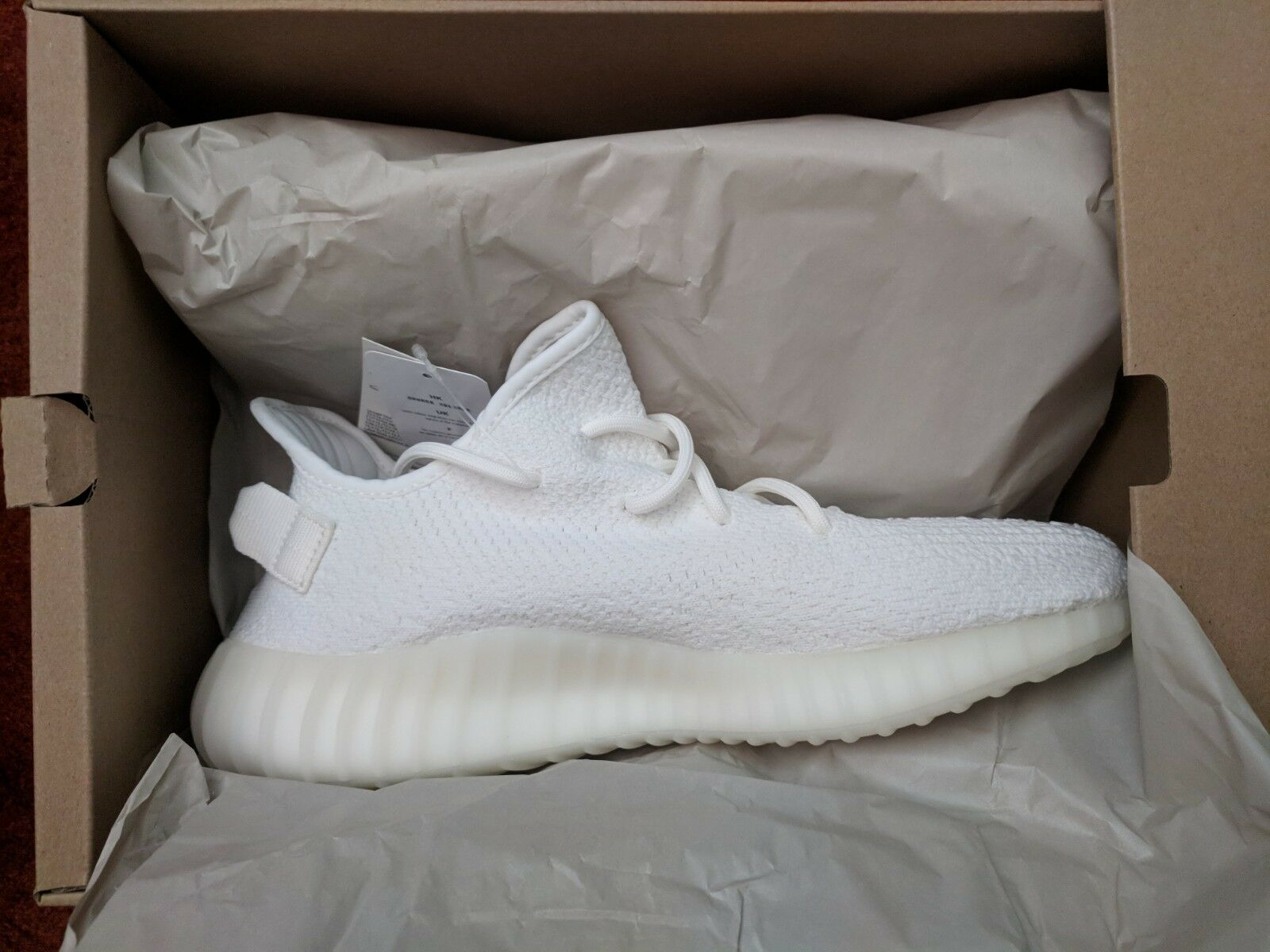 brand new boost adidas yeezy boost new 350 v2 triple Blanc    taille 10 prêts de navire bd4045