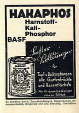BASF Hakaphos Harnstoff- Kali- Phosphor- Dünger Historische Reklame von 1930