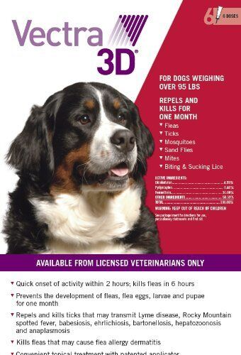 Vectra 3d for large dogs over 95 lbs 3 month flea and tick treatment vectra 3d for large dogs over 95 lbs spot on 6 month flea and tick treatment publicscrutiny Choice Image