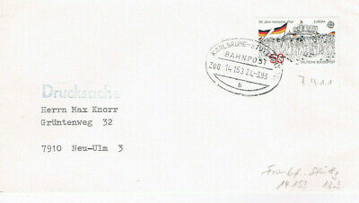 Karlsruhe Briefmarken Diverse Philatelie Stuttgart // Bahnpost 1983 100% Garantie