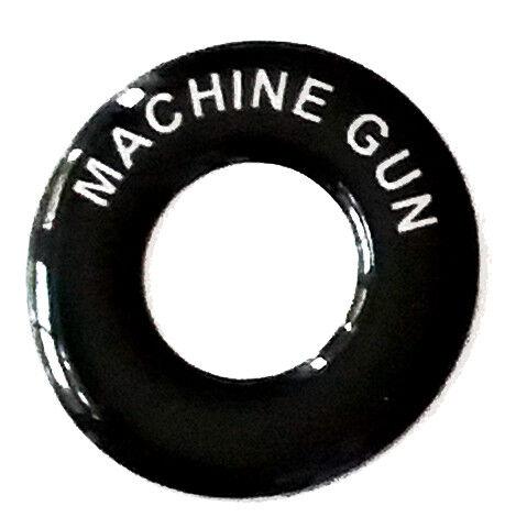 Lucas Toggle Switch Round Dash Tag MACHINE GUN Classic Car Kit Hot Rod