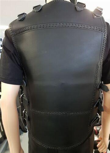 Mens Motorcycle Motorbike Heavy Duty 3mm Thick Leather Biker Club Vest Waistcoat