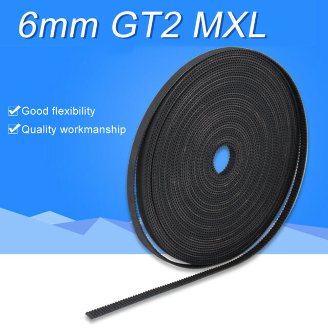 1/2/5M Flexible GT2 MXL Rubber 6MM Timing Belt for 3D Printer Replacement Wide