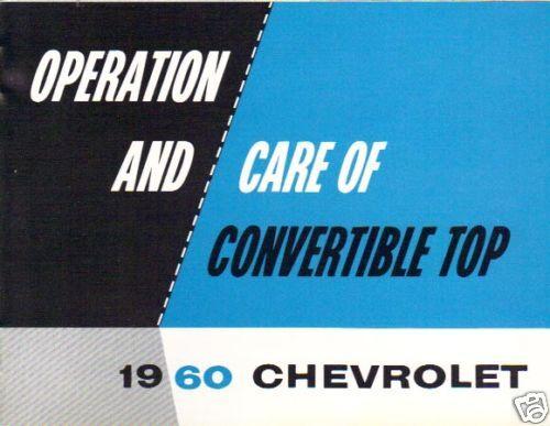 1960  CHEVROLET  FOLDING TOP MANUAL