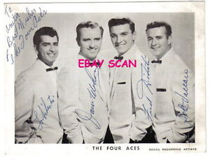 Image Is Loading 1950 039 S THE FOUR ACES Hand Signed