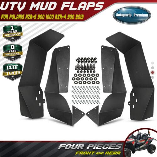 4PCS UTV Mud Flaps Fender Flares for RZR Off Road Polaris RZR-S 900 /& 1000 2019