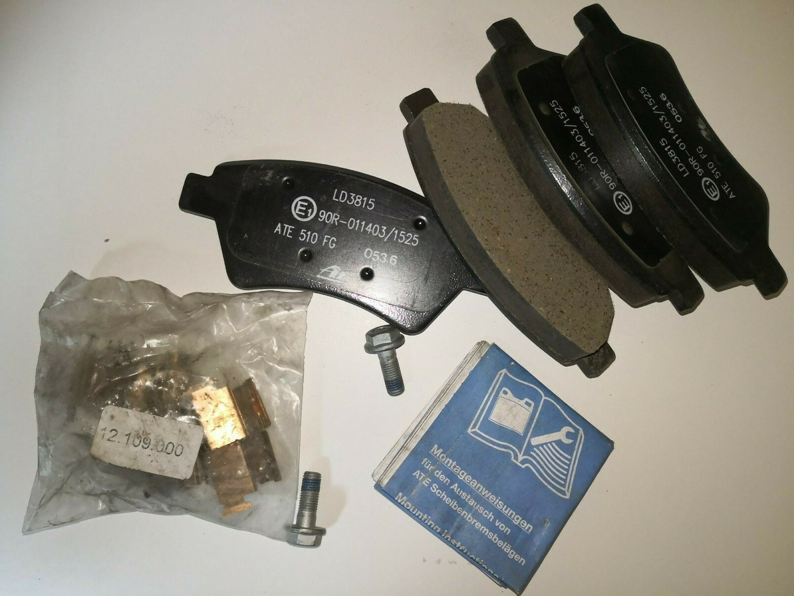 Bremsbeläge Bremsklötze Vorne für Renault ATE 13.0460-3815.2