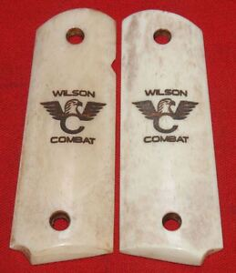 Wilson-Combat-Full-Size-1911-Smooth-Ivory-Look-Grips-made-from-Real-Bone