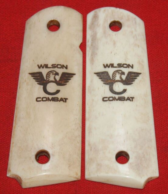 Wilson Combat Full Size 1911 Smooth Ivory Look Grips made from Real Bone