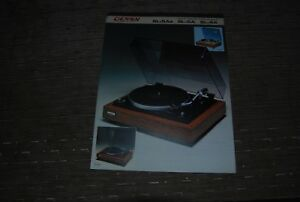 Denon-SL-5A-SL-4A-Turntable-Original-Catalogue
