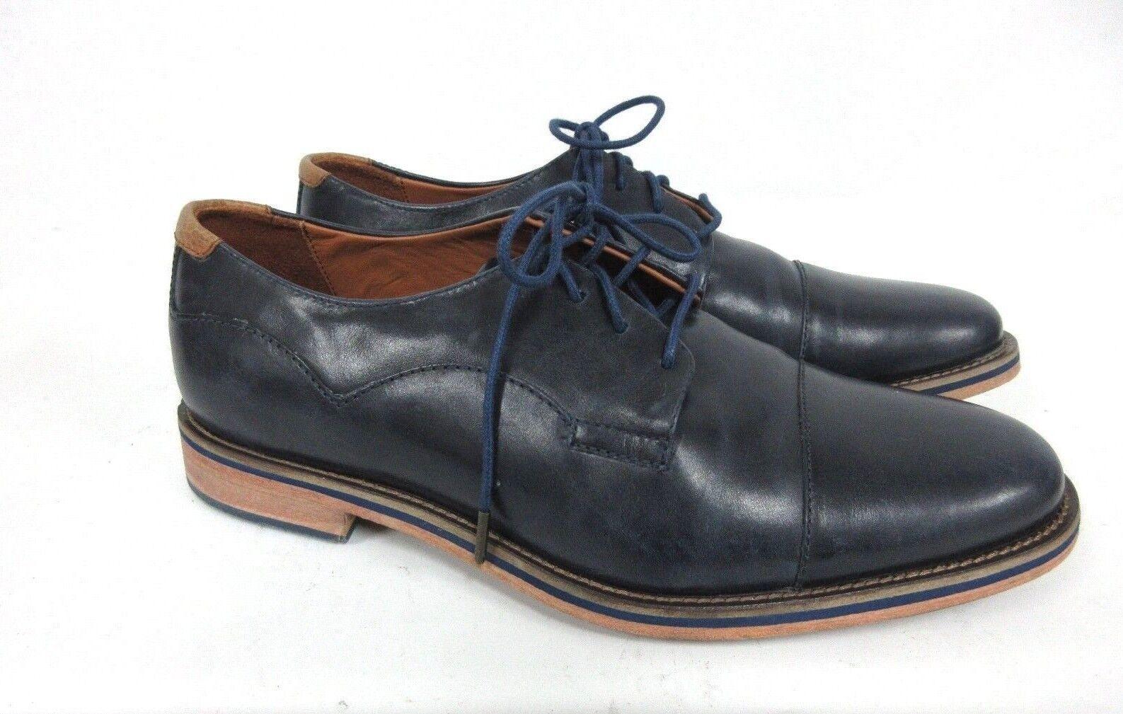 NEU J.Schuhe Herren Indi Oxford marineblau Leder Größe: 8.5