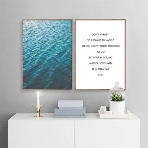 Peaceful Sea Landscape Wall Art Canvas Poster Motivaiton Print Nordic Decoration