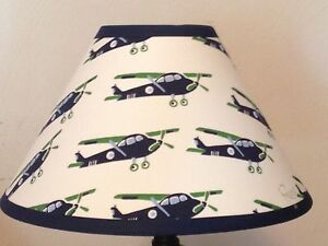 Vintage Planes Children's Fabric Lamp Shade M2M Pottery Barn Kids Bedding