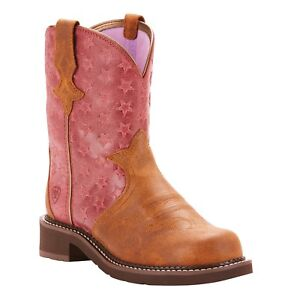 Ariat-Ladies-Fatbaby-Heritage-Trio-Pink-Western-Boots-10025027