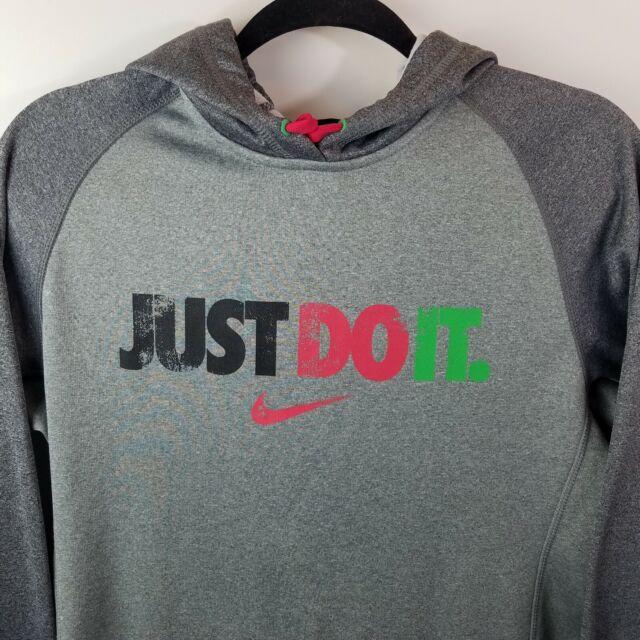 RARE Nike Just Do It Therma Fit Gray Hoodie Sweatshirt Sz. S
