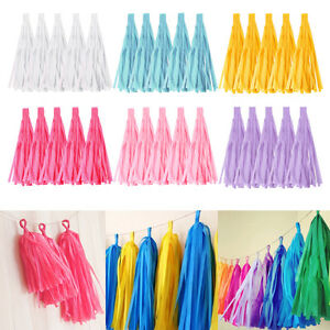 5Pcs-Tissue-Paper-Tassels-Wedding-Party-Decor-Garland-BuntingsPompom-Tassle