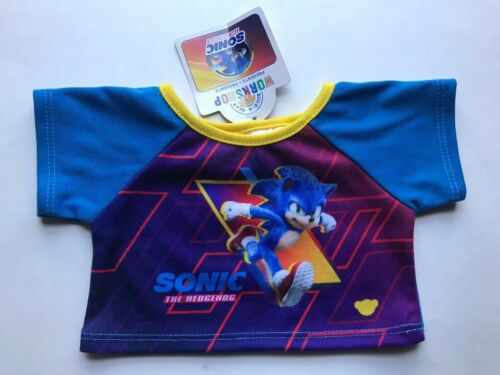 NWT Build-A-Bear Sonic The Hadgehog  T-Shirt