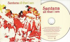 SANTANA All That I Am Sampler UK 5-track promo only CD Steven Tyler Sean Paul
