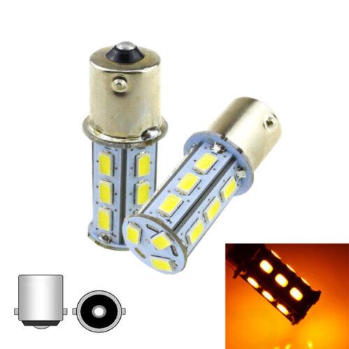 BA15s pour scooter moto 2 ampoules à LED cree  orange  pour clignotants P21W