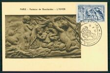 FRANCE MK 1950 PARIS SKULPTUREN BRUNNEN GRENELLE CARTE MAXIMUM CARD MC at88