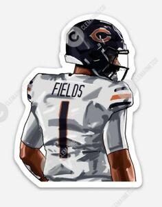 Justin Fields STICKER - Chicago Bears NFL Quarterback Bears Rookie