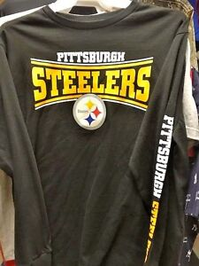 timeless design 36ad7 dc175 Details about PITTSBURGH STEELERS LONG SLEEVE PULLOVER SHIRT XL NEW