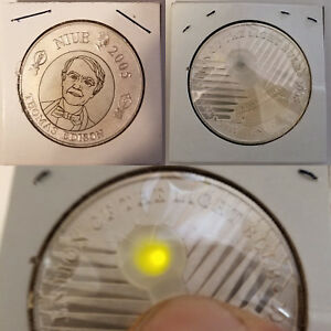 Niue-1-Thomas-Edison-Coin-125th-Anniversary-w-Working-LED-Bulb-2005-One-Dollar