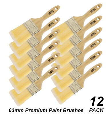 BULK 38mm Premium Paint Brushes DIY Polyester with Wood Handles