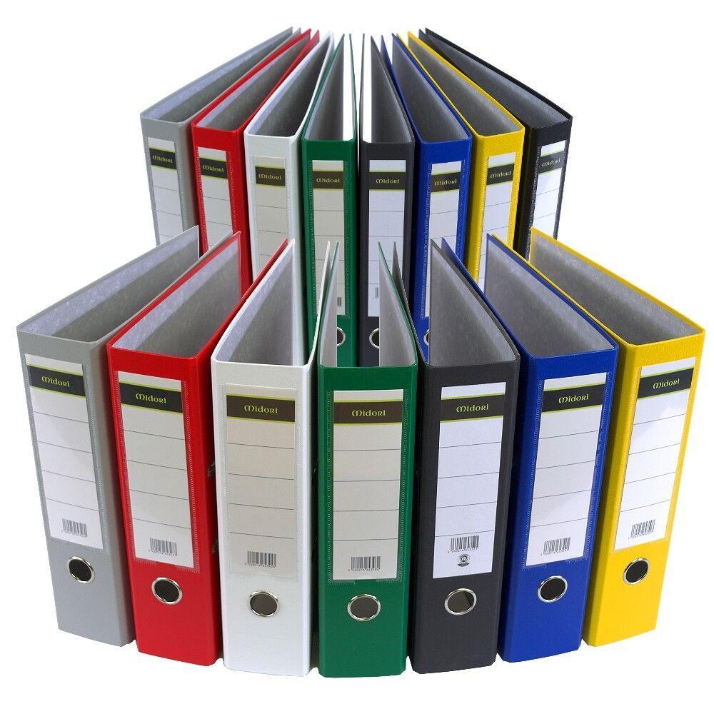 MIDORI Ordner DIN A4 PP Kunststoff Papier Aktenordner Briefordner 8 oder 5 cm   Hochwertige Produkte    Moderne Technologie    Grüne, neue Technologie