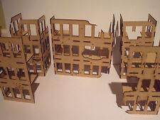 Commercial buildings pack damaged Wood scenery terrain warhammer 40k wargames