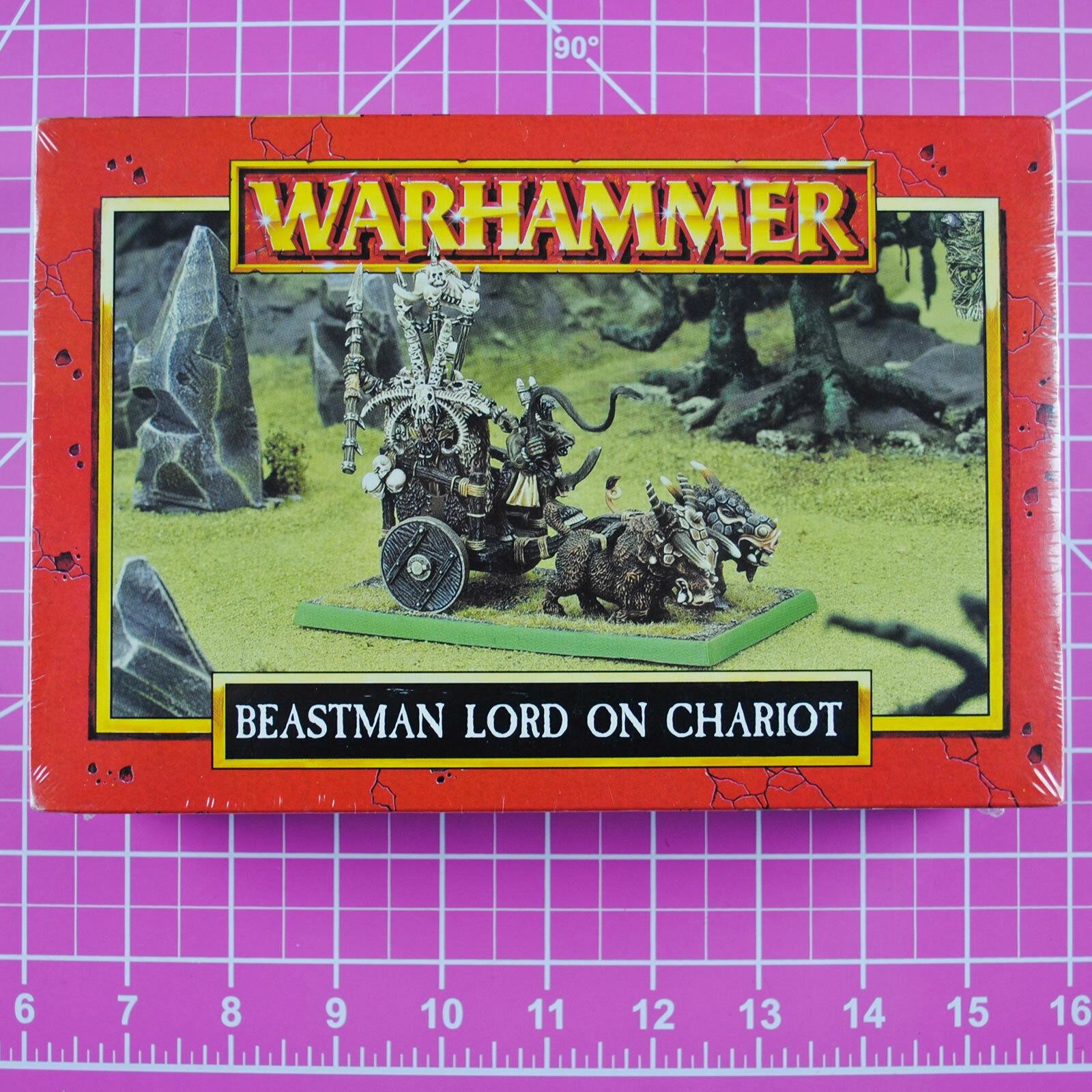 Warhammer Gorthor The Beastlord on Chariot Metal OOP Citadel Chaos Beastmen Lord
