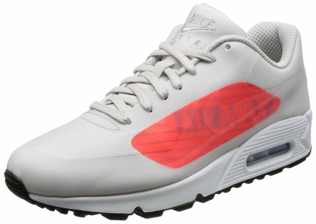 sports shoes e9544 66630 Nike Mens Air Max 90 Ns Gpx Running Shoe Neutral Grey Bright Crimson