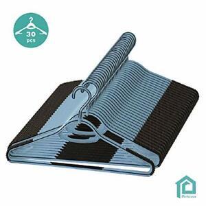 Perfecasa-Extra-Anti-Non-Slip-Plastic-Hangers-30-Pack-360-Swivel-HookShirts