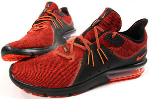 ven Delicioso Incienso  NIKE Air Max Sequent 3 shoes- 13-NEW-knit Red & Black retro Classic running  - | eBay