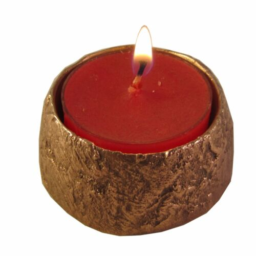 Teelichthalter Leuchter Struktur Bronze 5 cm tea light holder