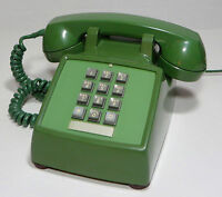 Western Electric 2500 Wall Telephone Green Vintage
