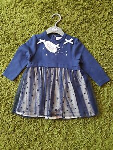 4b2891fd7 NEW BABY GIRLS CHLOE LOUISE PARTY DRESSES IN NAVY BLUE BEAUTIFUL STAR - Burgess  Hill,