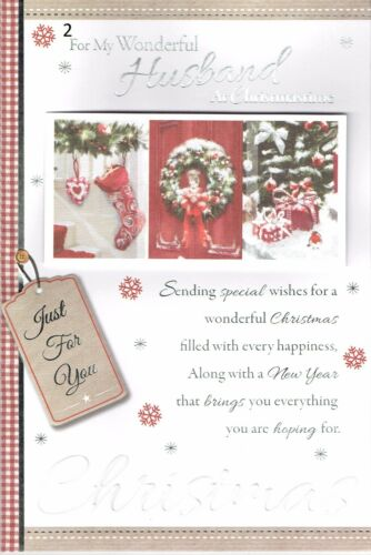 HUSBAND ~ Quality CHRISTMAS CARD ~ WITH LOVELY WORDS ~ CHOICE OF DESIGN