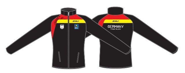 2XU Deutsche Triathlon Union Track Jacket Jacket Jacket Herren Größe XL Nationalmannschaft b9d8a1